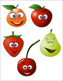 Illustration drôle de fruit Image libre de droits