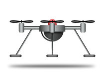 Illustration of a drone. Royalty Free Stock Photo