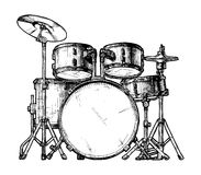 Illustration of drum kit Royalty Free Stock Photography
