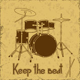 Illustration of drum set Royalty Free Stock Photo