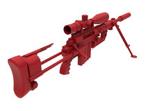Illustration détaillée de fusil de tireur isolé Image stock