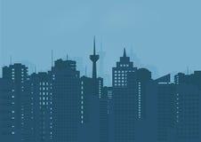 Illustration du bâtiment de la ville illustration libre de droits