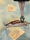 Illustration du ballet dancer Images stock