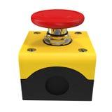 Illustration du bouton rouge 3d Photo libre de droits