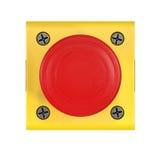 Illustration du bouton rouge 3d Images stock