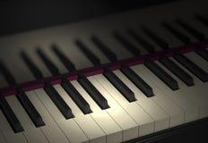Illustration du clavier de piano 3d illustration stock