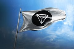 Illustration du drapeau 3d de Tron TRX illustration stock