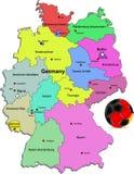 Illustration du football de l'Allemagne Photos stock