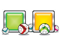 Illustration du football du football Images libres de droits