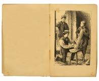 Illustration du livre de 1884 enfants image stock