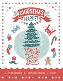 Illustration du marché de Noël illustration de vecteur