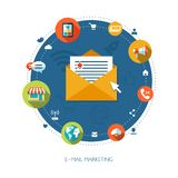 Illustration du marketing plat d'affaires de conception Image libre de droits