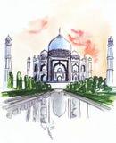 Illustration du mausolée de renommée mondiale dans l'Inde illustration libre de droits