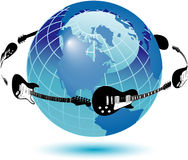 Illustration du monde de guitare illustration stock