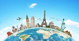 Illustration du monument célèbre du monde Photos stock