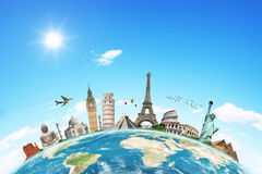 Illustration du monument célèbre du monde Photo libre de droits