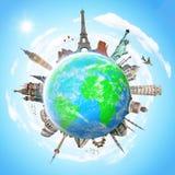 Illustration du monument célèbre du monde Images libres de droits