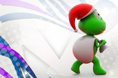 illustration du père noël de la grenouille 3d Photos stock