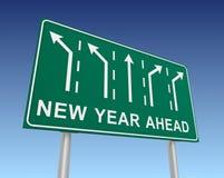 Illustration du panneau routier 3d de nouvelle année à venir illustration libre de droits