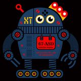 Illustration du robot 2 de roulement illustration stock