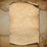 Illustration du rouleau 3d de carte de trésor de pirates Photo libre de droits