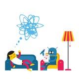 Illustration du travail de secrétaire illustration de vecteur