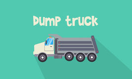Illustration of dump truck collection. Vector flat Royalty Free Stock Photos