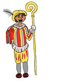 Illustration of the Dutch character Zwarte Piet Royalty Free Stock Photos