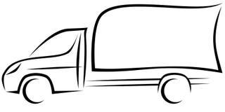 Illustration dynamique de vecteur d'un véhicule utilitaire léger avec un châssis image stock