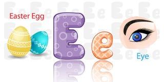 Illustration of E alphabet stock illustration