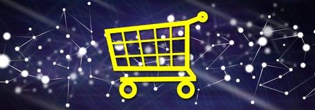 Concept of e-commerce Stock Photo