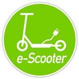 Illustration with e mobility e scooter transportation. Isolated stock illustration
