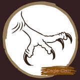 Illustration of eagle claw, hawk bird Stock Image
