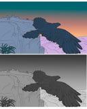 Illustration - Eagle ist Fling lizenzfreie abbildung