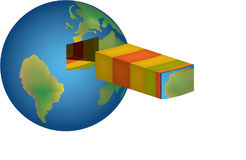 Illustration of the Earth 3 Royalty Free Stock Image
