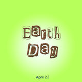 Illustration Earth Day april twenty-two with world and flowers in sepia Stock Photo