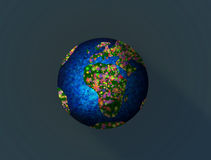 Illustration of Earth Day Stock Images