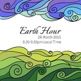 Illustration for Earth Hour Aannual International Royalty Free Stock Image