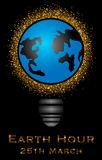Illustration of Earth Hour Royalty Free Stock Image