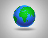 Illustration of Earth isolated on light background Stock Image