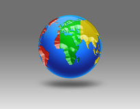 Illustration of Earth isolated on light background Stock Photo
