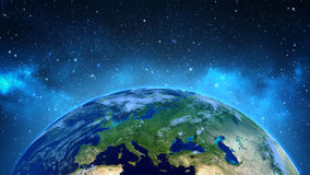 Illustration of earth from outer space Royalty Free Stock Photos