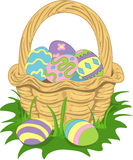 Illustration of an easter basket Royalty Free Stock Photo