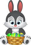 Illustration Easter bunny with basket Royalty Free Stock Images