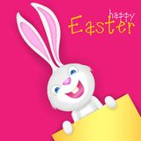 Easter bunny holding Blank Board Royalty Free Stock Image