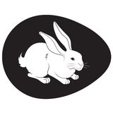 Illustration of an Easter bunny Royalty Free Stock Photo