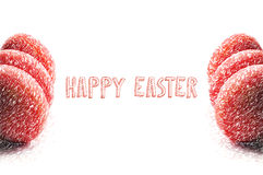 Illustration easter color eggs on white with place for sample text Royalty Free Stock Images