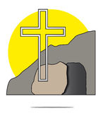 Illustration of easter cross Stock Photography