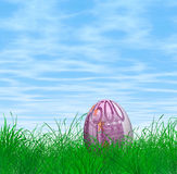 500 Euro Easter egg. An illustration of an Easter egg with 500 Euro bill texture Royalty Free Stock Images