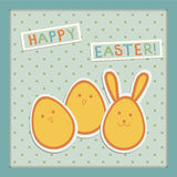 Illustration on easter eggs stock photography